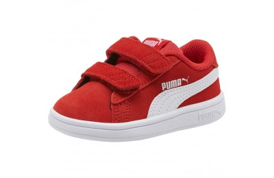 Puma PUMA Smash v2 Suede Sneakers INFHigh Risk Red- White Outlet Sale