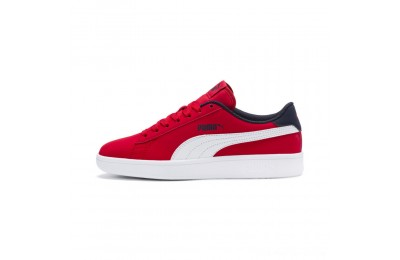 Puma PUMA Smash v2 Buck Sneakers JRHigh Risk Red- White Outlet Sale