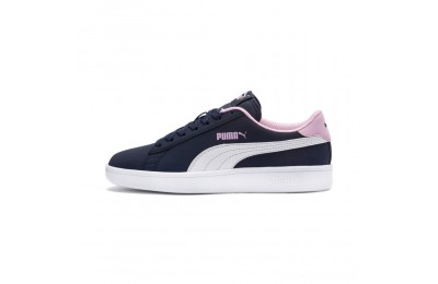 Puma PUMA Smash v2 Buck Sneakers JRPeacoat- White-Pale Pink Outlet Sale