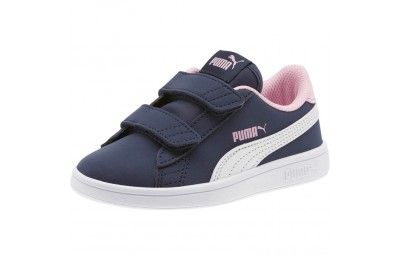 Puma PUMA Smash v2 Buck AC Sneakers PSPeacoat- White-Pale Pink Outlet Sale