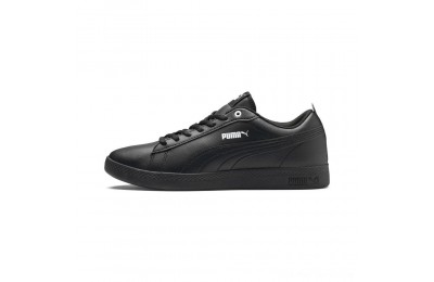 Puma Smash v2 Leather Women's Sneakers Black- Black Outlet Sale