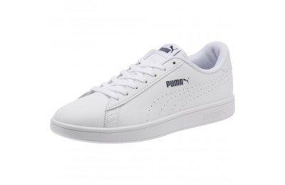 Puma PUMA Smash v2 Leather Perf Sneakers White- White Outlet Sale