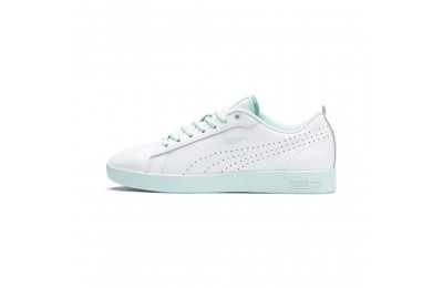 Black Friday 2020 Puma Smash V2 L Perf Women's Sneakers White-Fair Aqua Outlet Sale