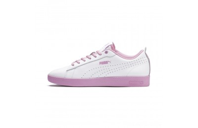 Puma Smash V2 L Perf Women's Sneakers White-Pale Pink Outlet Sale