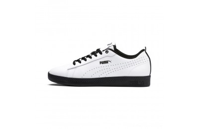 Puma Smash V2 L Perf Women's Sneakers White- Black Outlet Sale