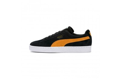 Black Friday 2020 Puma Suede Classic Sneakers Black-Orange Pop Outlet Sale