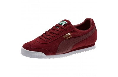 Puma Roma Suede Sneakers Pomegranate-Pomegranate Outlet Sale
