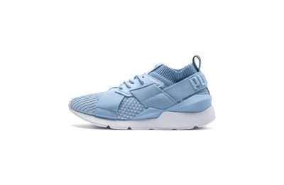 Black Friday 2020 Puma Muse evoKNIT Women's Sneakers CERULEAN-CERULEAN Outlet Sale