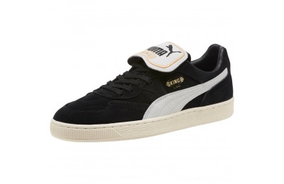 Puma KING SUEDE LEGENDS Black- Whit-Whisper Outlet Sale