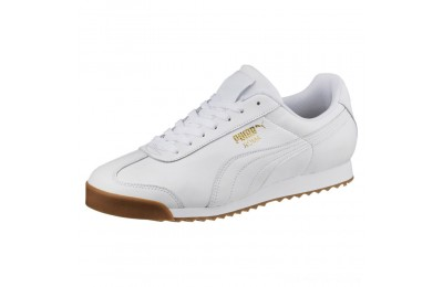 Puma Roma Classic Gum Sneakers White- Team Gold Outlet Sale