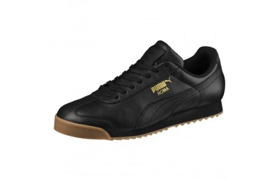 Black Friday 2020 Puma Roma Classic Gum Sneakers Black- Team Gold Outlet Sale