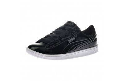 Black Friday 2020 Puma Vikky Ribbon Patent Women's Sneakers Black- Black Outlet Sale