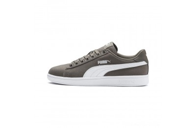 Black Friday 2020 Puma PUMA Smash v2 Canvas Sneakers Charcoal Gray- White Outlet Sale