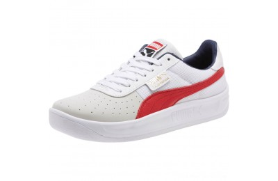 Puma California Casual Sneakers P White-RibbonRed-P White Outlet Sale