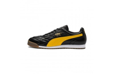 Black Friday 2020 Puma Roma Anniversario Sneakers Black-Spectra Yellow Outlet Sale