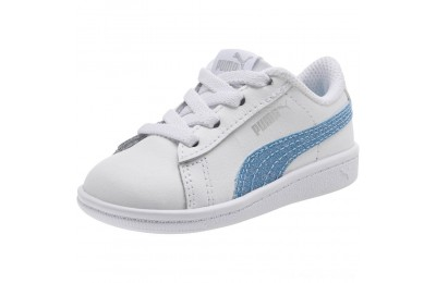 Black Friday 2020 Puma Puma Vikky Glitz FS AC Infant Sneakers White-CERULEAN-Silver Outlet Sale
