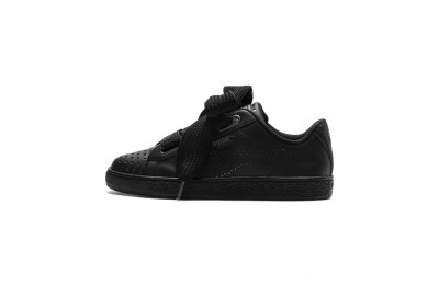 Puma Basket Heart Lux Women's Sneakers Black- Black Outlet Sale