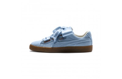 Black Friday 2020 Puma Basket Heart Corduroy Women's Sneakers CERULEAN-CERULEAN Outlet Sale