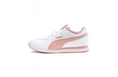 Puma Turin II JR Sneakers P.White-Peach Bud-Pale Pink Outlet Sale