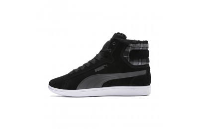 Black Friday 2020 Puma Vikky Mid Fur Women's High Tops Black-Iron Gate Outlet Sale