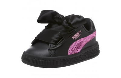 Puma Basket Heart Bling Infant Sneakers Black-Orchid Outlet Sale