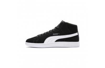 Black Friday 2020 Puma PUMA Smash v2 Suede Mid Sneakers Black- White Outlet Sale
