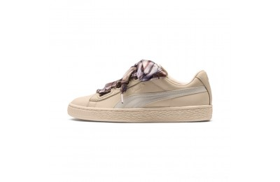Black Friday 2020 Puma Basket Heart Mimicry Women's Sneakers Vanilla Cream-Vanilla Cream Outlet Sale