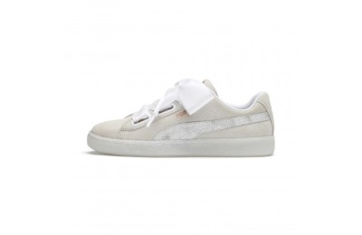 Black Friday 2020 Puma Suede Heart Arctica Women's Sneakers White- White Outlet Sale