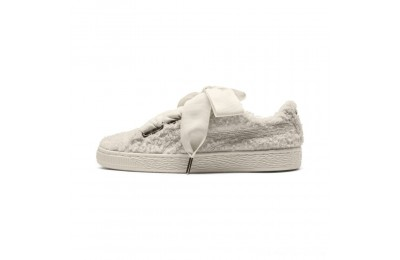 Black Friday 2020 Puma Basket Heart Teddy Women's Sneakers Whisper White-Whisper White Outlet Sale