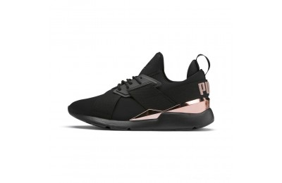 Black Friday 2020 Puma Muse Metal Women's Sneakers Black-Rose Gold Outlet Sale