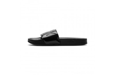 Black Friday 2020 Puma Women's Leadcat Patent Slide Sandals Black- Black Outlet Sale