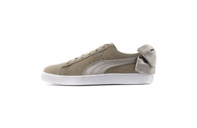 Puma Suede Bow Women's Sneakers Elephant Skin-Silver Cloud Outlet Sale