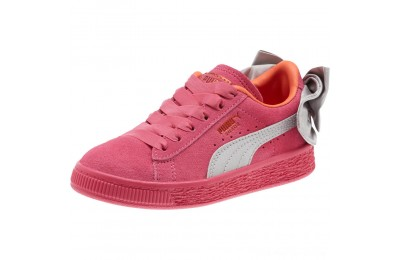 Puma Suede Bow AC Sneakers PSFuchsia Purple-Nasturtium Outlet Sale