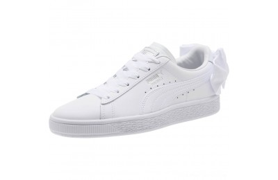 Black Friday 2020 Puma Basket Bow Jr White- White Outlet Sale