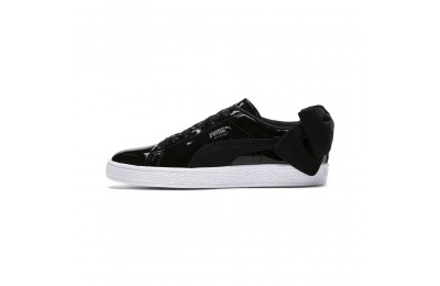 Puma Basket Suede Bow Women's Sneakers Black- Black Outlet Sale