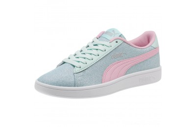 Black Friday 2020 Puma Smash v2 Glitz Glam JR Sneakers F Aqua-P Pink-Silver-White Outlet Sale