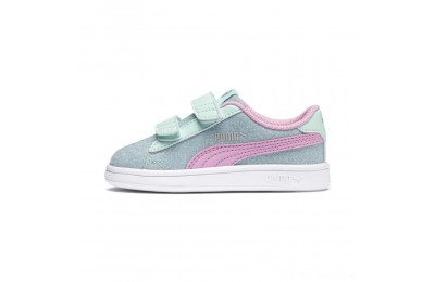 Black Friday 2020 Puma PUMA Smash v2 Glitz Glam Sneakers PSF Aqua-P Pink-Silver-White Outlet Sale