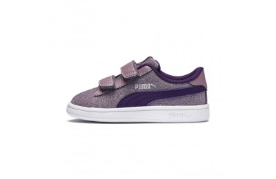 Black Friday 2020 Puma Smash v2 Glitz Glam V Infant Sneakers Elderberry-Indigo-Silver-Wht Outlet Sale