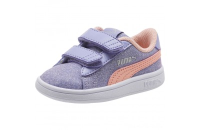 Puma Smash v2 Glitz Glam V Infant Sneakers S Lavender-P Bud-Silver-Wht Outlet Sale