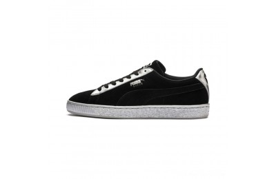 Black Friday 2020 Puma Suede Classic Metallic Black- Silver Outlet Sale