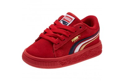 Black Friday 2020 Puma Suede Classic Multicolour Embroidery Baby's Sneakers Red-Peacoat-White-Gold Outlet Sale