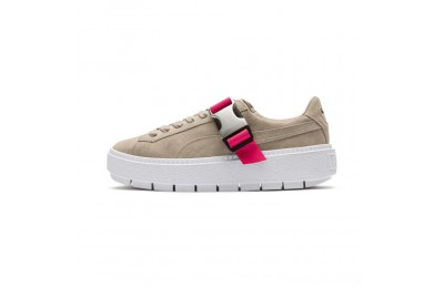 Puma Platform Trace Buckle Women's Sneakers Cement-Cement Outlet Sale