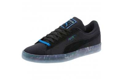 Puma Suede Classic V2 AOP Men's Sneakers Black- Royal Outlet Sale