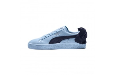 Puma Basket Bow Patent JR Sneakers CERULEAN-Peacoat Outlet Sale