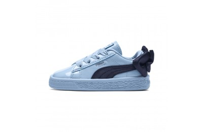 Puma Basket Bow Patent Baby's Sneakers CERULEAN-Peacoat Outlet Sale