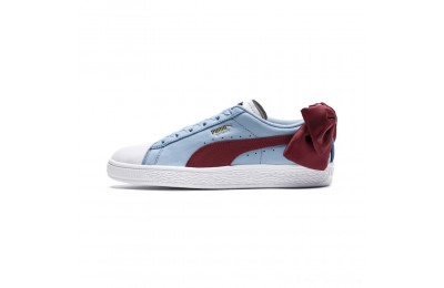 Black Friday 2020 Puma Basket Bow New School Women's Sneakers P.White-CERULEAN-Pomegranate Outlet Sale
