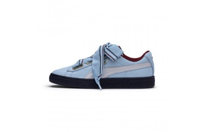 Black Friday 2020 Puma Basket Heart New School Women's Sneakers CERULEAN-CERULEAN Outlet Sale