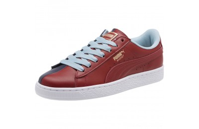 Black Friday 2020 Puma Basket Nu School Women's Sneakers Pomegranate-Peacoat Outlet Sale
