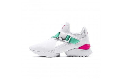 Black Friday 2020 Puma MUSE EOS Street 1 Women's Sneakers White-Biscay Green Outlet Sale
