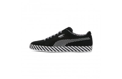 Puma Suede Classic Pop Culture Sneakers Black- White Outlet Sale